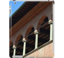 Simple brick facade from Siena with columns and arches. iPad Case/Skin