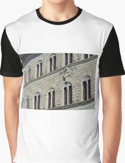 Building from Siena with decorative windows. Graphic T-Shirt