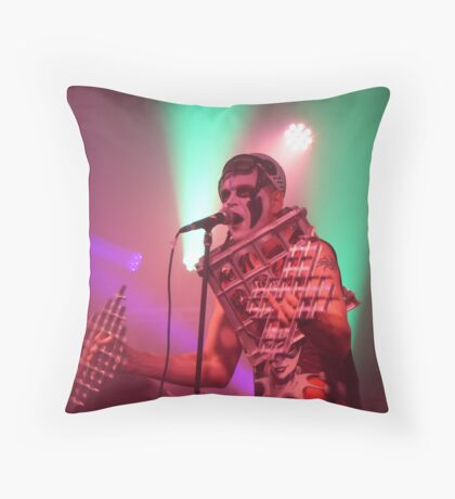 Dee Minor and the discords live on stage Throw Pillow