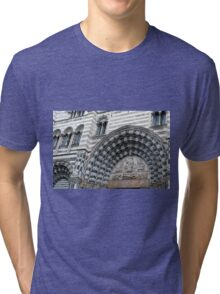 Detail of the cathedral from Genova. Tri-blend T-Shirt