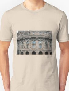 Beautiful classical building from Genova. Unisex T-Shirt