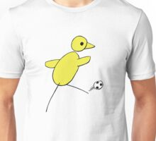 Canary Fan - Canary Shooting For Goal Unisex T-Shirt