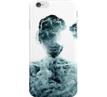 Meditative portrait of attractive man iPhone Case/Skin
