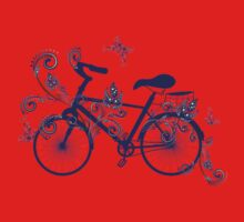 Bicycle and Floral Ornament 4 Baby Tee