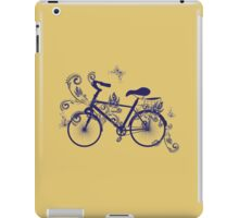 Bicycle and Floral Ornament 4 iPad Case/Skin
