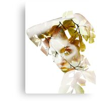 Double exposure portrait Canvas Print