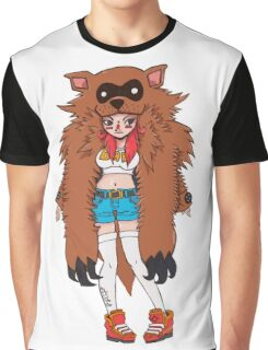 racoon babe Graphic T-Shirt