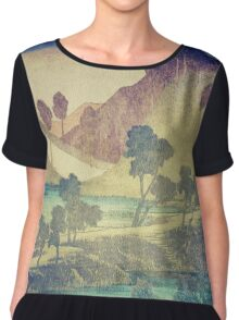 A Valley in the Evening Chiffon Top