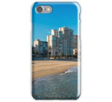 The empty beach - panorama iPhone Case/Skin