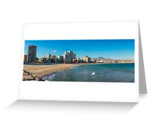 The empty beach - panorama Greeting Card