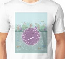 Urchin floating in the sea  Unisex T-Shirt
