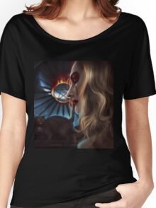 Witch with cat Women's Relaxed Fit T-Shirt