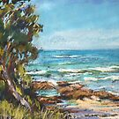 Oxley Beach paint out by Terri Maddock