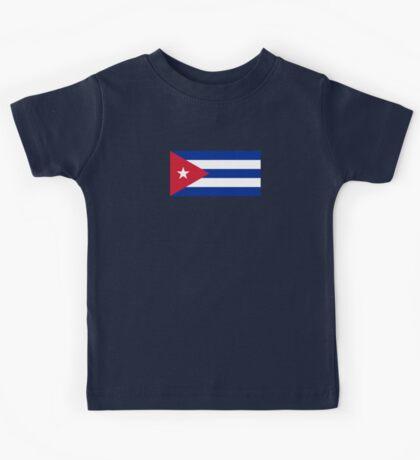 Cuba Flag - Cuban National Flag T-Shirt Sticker Kids Tee