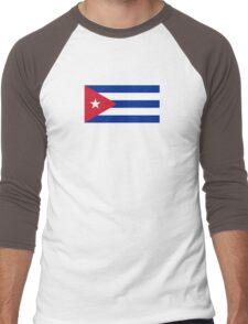 Cuba Flag - Cuban National Flag T-Shirt Sticker Men's Baseball ¾ T-Shirt