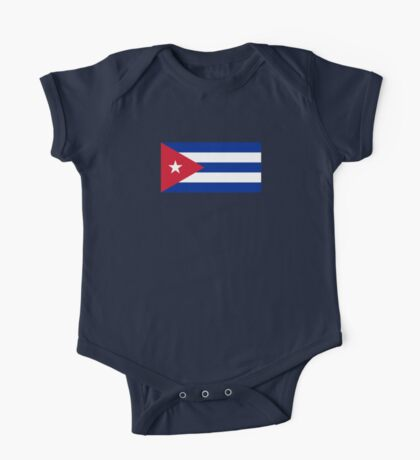 Cuba Flag - Cuban National Flag T-Shirt Sticker One Piece - Short Sleeve