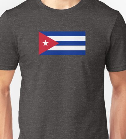 Cuba Flag - Cuban National Flag T-Shirt Sticker Unisex T-Shirt