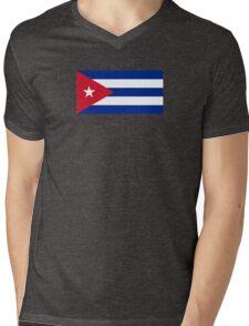 Cuba Flag - Cuban National Flag T-Shirt Sticker Mens V-Neck T-Shirt