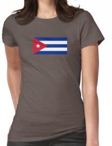Cuba Flag - Cuban National Flag T-Shirt Sticker Womens Fitted T-Shirt