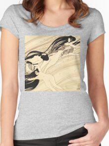 Fish blood by Gustav Klimt Women's Fitted Scoop T-Shirt