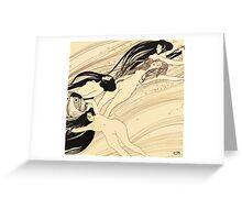 Fish blood by Gustav Klimt Greeting Card