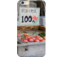 100 Yen Vegetables iPhone Case/Skin
