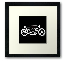 THE CAFE RACER Framed Print