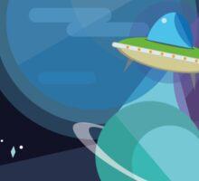 Alien incoming Sticker
