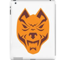 Angry Wolf Head Retro iPad Case/Skin