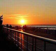Sunset on the Sunken Meadow Boardwalk by Gilda Axelrod