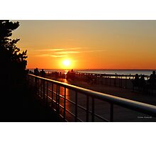 Sunset on the Sunken Meadow Boardwalk Photographic Print