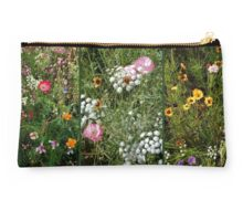 English Cottage Garden Collage 1 Studio Pouch