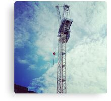 In the Sky Construction Canvas Print