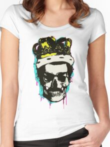 skull and crown Women's Fitted Scoop T-Shirt
