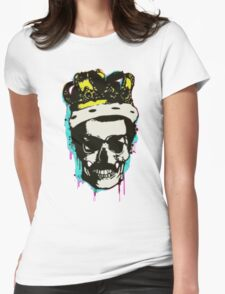 skull and crown Womens Fitted T-Shirt
