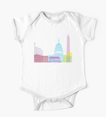 Washington DC skyline pop One Piece - Short Sleeve