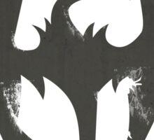 Iron Dragon Grunge Sticker
