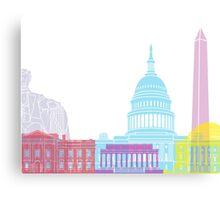 Washington DC skyline pop Canvas Print