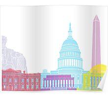 Washington DC skyline pop Poster