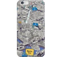 Illustrated map of Berlin-Mitte. Blue iPhone Case/Skin