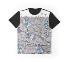 Illustrated map of Berlin-Mitte. Blue Graphic T-Shirt