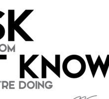 risk comes from not knowing what you're doing - warren buffett Sticker