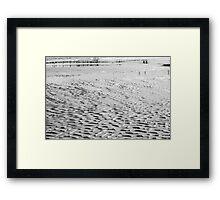 Wet Sand Framed Print