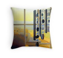 No Wind for Chimes Throw Pillow