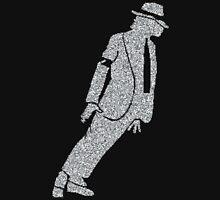 pop king legend dancing silver glitter silhouette art Unisex T-Shirt