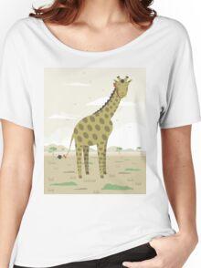 Giraffe in the savanna  Women's Relaxed Fit T-Shirt