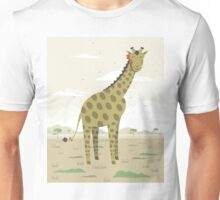 Giraffe in the savanna  Unisex T-Shirt