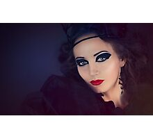Beautiful Girl in the Gothic style Photographic Print