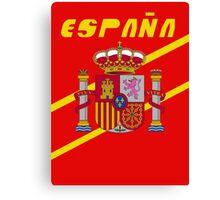 Team Spain Tee Canvas Print