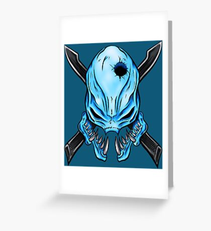 Elite Skull - Halo Legendary Greeting Card